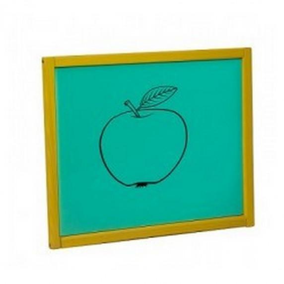 Tablica na biurko Inlea4Fun z bezpiecznym szkłem + wymienna tablica kredowa