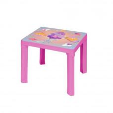 Stolik plastikowy dla dzieci z motywem, różowy Preview