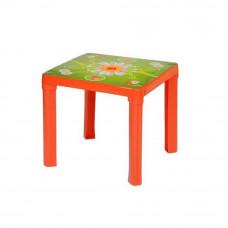 Stolik plastikowy dla dzieci z motywem, czerwony Preview