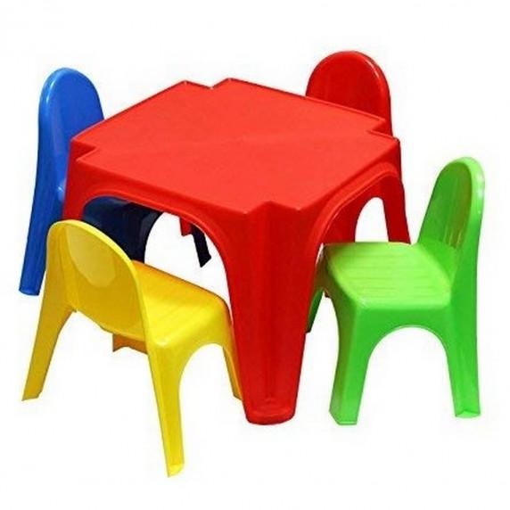 Stolik Keren Inlea4Fun + 4 krzesełka