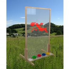 Inlea4Fun tablica naturalna stojąca duża, ze szkłem bezpiecznym  Preview