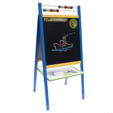 Inlea4Fun tablica dwustronna 5v1 SCHOOL, niebieska Preview