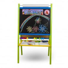 Inlea4Fun tablica dwustronna duża, kolorowa z liczydłem i rolką papieru Preview