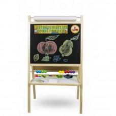 Inlea4Fun tablica dwustronna duża, naturalna z liczydłem i rolką papieru Preview