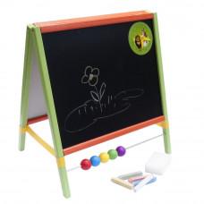 Inlea4Fun tablica na biurko, dwustronna z zegarem i liczydłem Preview
