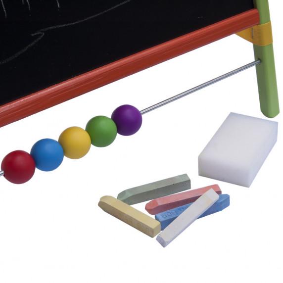 Tablica magnetyczna na biurko Inlea4Fun Table, dwustronna, kolorowa + akcesoria