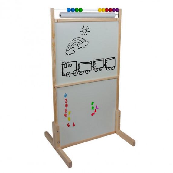 Tablica magnetyczna Inlea4Fun dwustronna, kolorowa + akcesoria