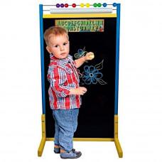 Inlea4Fun tablica magnetyczna dwustronna, duża, kolorowa z liczydłem i rolką papieru Preview