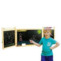 Tablica magnetyczna Inlea4Fun First School, wisząca, dwustronna, natural