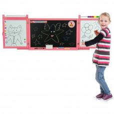 Tablica magnetyczna Inlea4Fun First School, wisząca, dwustronna, różowa Preview