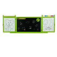 Tablica magnetyczna Inlea4Fun First School, wisząca, dwustronna, zielona