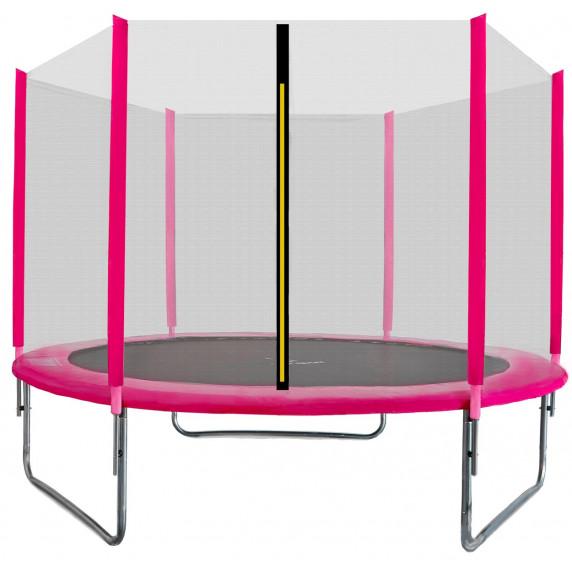 Trampolina Sport Top Aga 180 cm (6 Ft) z zewnętrzną siatką ochronną, różowa
