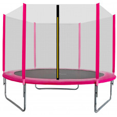 Trampolina Sport Top Aga 250 cm (8 Ft) z zewnętrzną siatką ochronną, różowa Preview