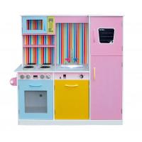 Kuchnia drewniana dla dzieci Aga4Kids Rainbow wysokość 106 cm