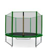 Trampolina Sport Pro Aga 275 cm (9 Ft) z zewnętrzną siatką ochronną, zielona