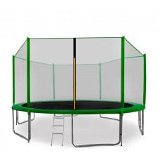 Trampolina Sport Pro Aga 430 cm (14 Ft) z zewnętrzną siatką ochronną, zielona Preview