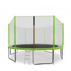Trampolina Sport Pro Aga 400 cm (13 Ft) z zewnętrzną siatką ochronną, jasnozielona Preview