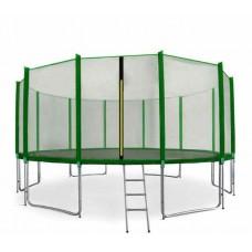 Trampolina Sport Pro Aga 518 cm (17 Ft) z zewnętrzną siatką ochronną, zielona Preview