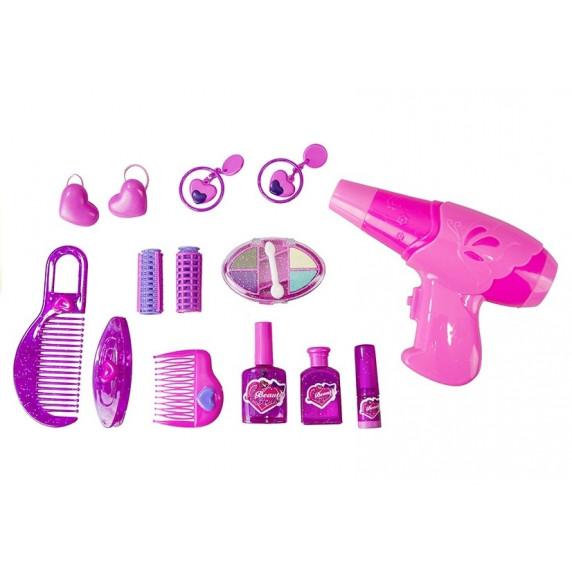 Toaletka dla dziewczynki Inlea4Fun z dźwiękami i światełkami + akcesoria