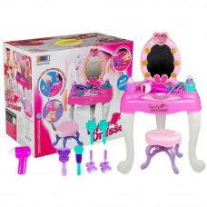 Toaletka dla dziewczynki Inlea4Fun Lovely Dresser, stołek + akcesoria