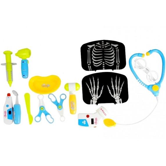 Zestaw lekarski na wózku z monitorem RTG + 22 akcesoria