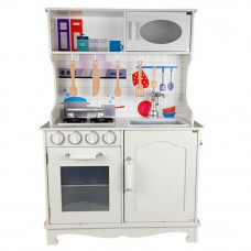 Kuchnia drewniana dla dzieci Inlea4Fun, biała + akcesoria Preview