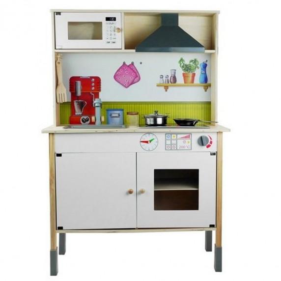Kuchnia drewniana dla dzieci Inlea4Fun Meggie + akcesoria