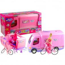 Camper i rower dla Barbie My Dream Home, różowy 50 cm Preview