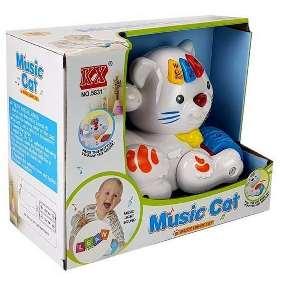 Interaktywny kotek dla najmłodszych - zabawka muzyczna
