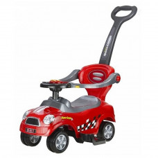 Jeździk pchacz Coupe Inlea4fun z prowadnicą czerwony