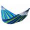 Hamak bez listwy, niebiesko zielone pasy 100 x 236 cm