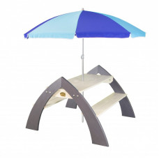 Stół piknikowy AXI Kylo XL z parasolem, dla dzieci Preview
