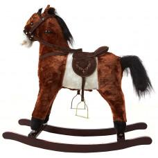 Koń na biegunach Aga4Kids ciemny brąz - rży, galopuje i rusza ogonem Preview