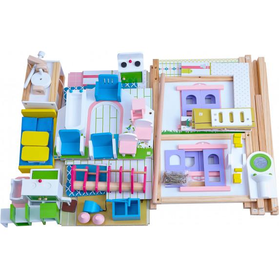 Domek drewniany dla lalek Aga4Kids NAOMI z akcesoriami