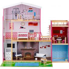 Domek drewniany dla lalek Aga4Kids ELEN z akcesoriami Preview