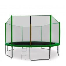 Trampolina Sport Pro Aga 400 cm (13 Ft) z zewnętrzną siatką ochronną, zielona Preview