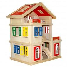 Domek drewniany dla lalek Aga4Kids  MADISON z akcesoriami Preview