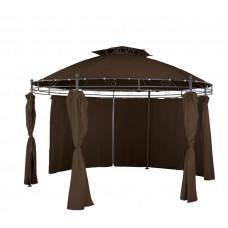 Pawilon, namiot ogrodowy okrągły 350 cm, brązowy Preview