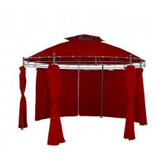 Pawilon, namiot ogrodowy okrągły 350 cm, bordowy Preview