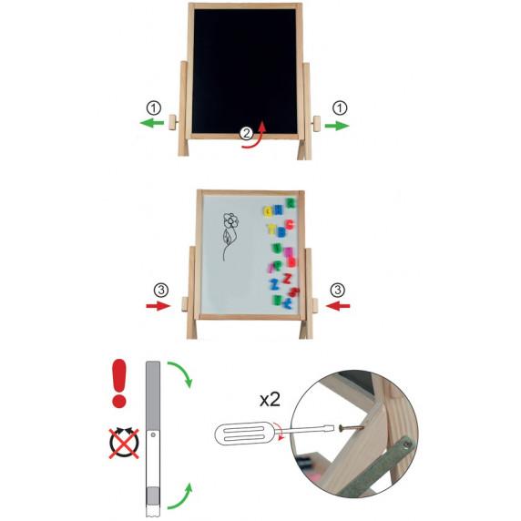 Tablica magnetyczna Inlea4Fun RBMN obrotowa, natural
