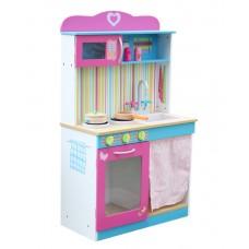 Kuchnia drewniana dla dzieci Aga4Kids Abra + akcesoria Preview