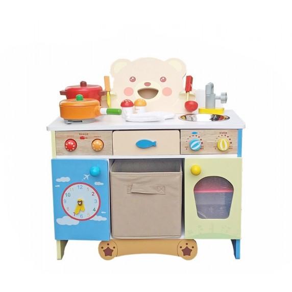 Kuchnia drewniana dla dzieci Aga4Kids Felicia + akcesoria