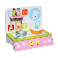 Mini kuchnia drewniana dla dzieci Aga4Kids Nella + akcesoria
