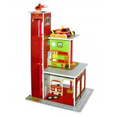Remiza strażacka drewniana Aga4Kids Fire Station z wieżą i akcesoriami Preview