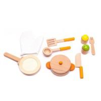 Naczynia kuchenne drewniane dla dzieci Aga4Kids Cookware Set 1