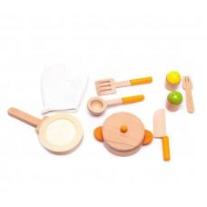 Naczynia kuchenne drewniane dla dzieci Aga4Kids Cookware Set 1 Preview