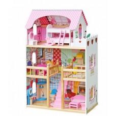 Domek drewniany dla lalek Aga4Kids TRUDY z akcesoriami Preview