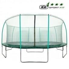 Trampolina Sport Fit Aga 430 cm (14 Ft) z wewnętrzną siatką ochronną, zielona Preview