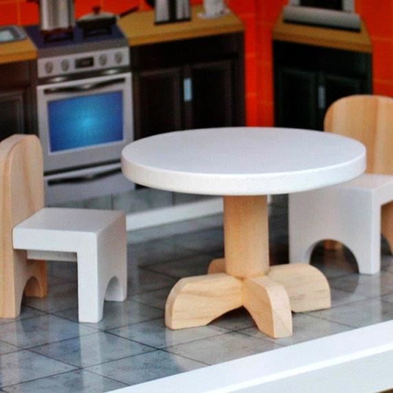 Domek drewniany dla lalek Aga4Kids HILARY z akcesoriami