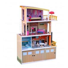 Domek drewniany dla lalek Aga4Kids HILARY z akcesoriami Preview